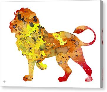 Lion 2 Canvas Print by Watercolor Girl