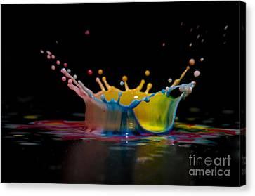 Highspeed Canvas Print - Liquid Coronet  by Guy Viner