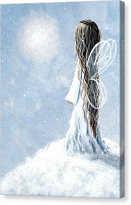 Little Fairy By Shawna Erback Canvas Print by Shawna Erback