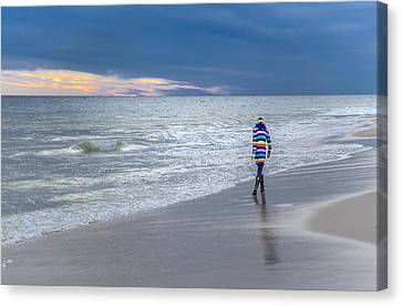 Little Girl At The Beache Canvas Print