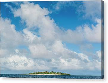 Tonga Canvas Print - Little Island With A White Sand Beach by Michael Runkel