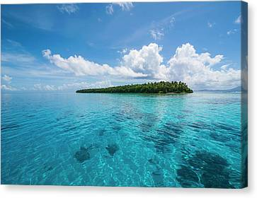 Little Islet In The Ant Atoll, Pohnpei Canvas Print by Michael Runkel