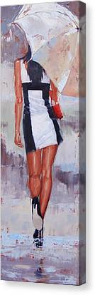 Little Red Bag Two Canvas Print by Laura Lee Zanghetti