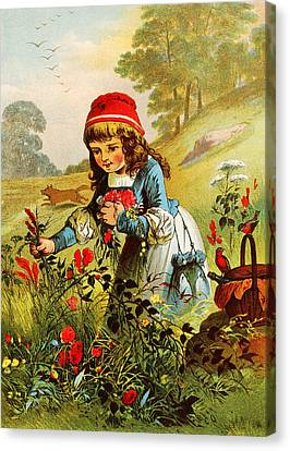 Little Red Riding Hood Canvas Print by Carl Offterdinger