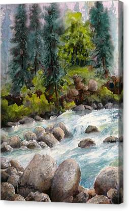 Little Susitna River Rocks Canvas Print