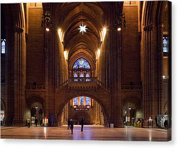 Liverpool Cathedral, Liverpool Canvas Print by Panoramic Images