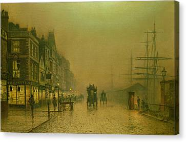 Liverpool Docks Canvas Print by John Atkinson Grimshaw