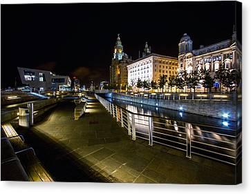 Liverpool Waterfront Canvas Print by Wayne Molyneux