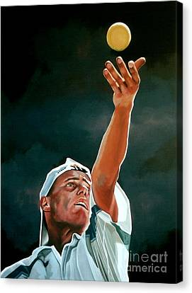 Slam Canvas Print - Lleyton Hewitt by Paul Meijering