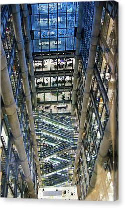 Lloyds Of London Interior Canvas Print by Mark Williamson
