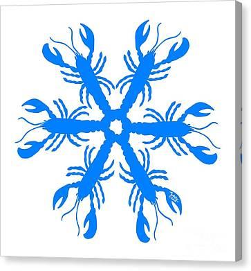 Lobster Snowflake 198 20080719 Canvas Print by Julie Knapp
