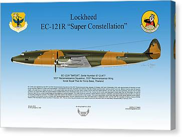 Lockheed Ec-121r Super Constellation Canvas Print by Arthur Eggers