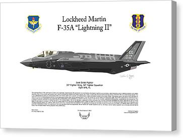 Lockheed Martin F-35a Lightning II Canvas Print