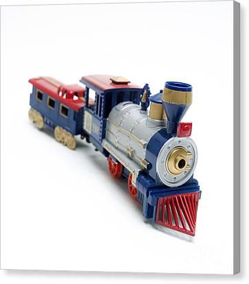 Locomotive Toy Canvas Print by Bernard Jaubert