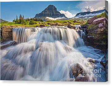 Reynolds Canvas Print - Logan Pass Cascades by Inge Johnsson