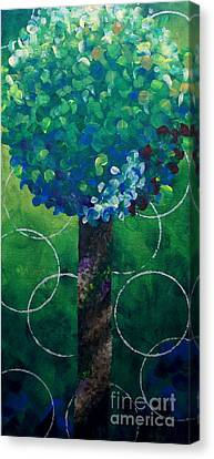Lollipop Tree Green Canvas Print