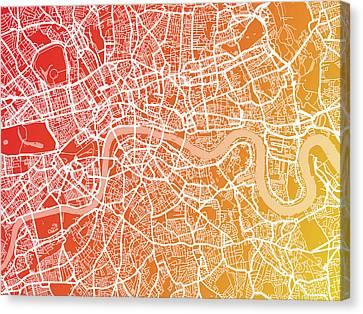 London England Street Map Canvas Print