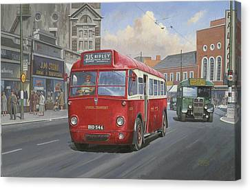 London Transport Q Type. Canvas Print by Mike  Jeffries