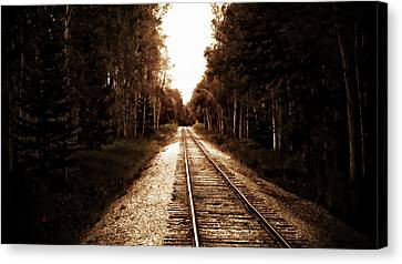 Lonely Railway Canvas Print