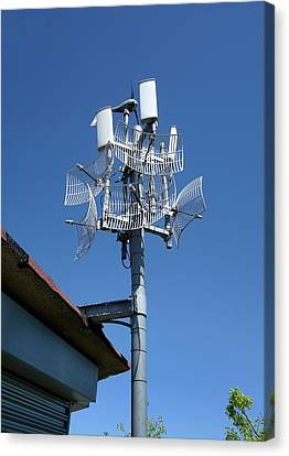 Long-range Wifi Antennae Canvas Print by Cordelia Molloy
