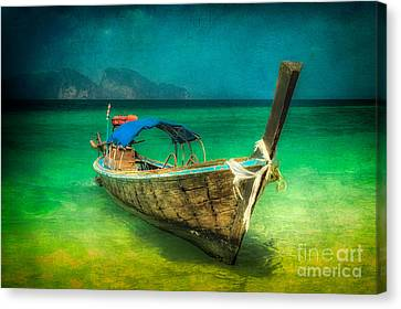 Longboat Thailand Canvas Print by Adrian Evans
