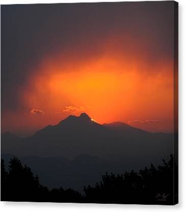 Longs Peak Sunset Canvas Print by Aaron Spong