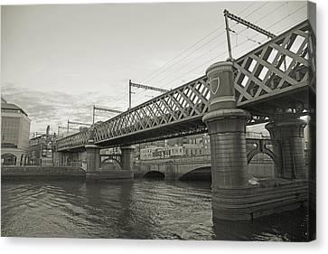Loopline Bridge Dublin Ireland Canvas Print by Betsy Knapp