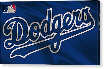 Los Angeles Dodgers Uniform Canvas Print