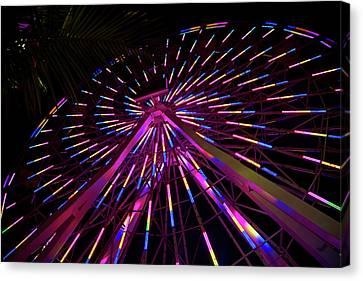 Los Angeles, Santa Monica, Colorful Canvas Print by David Wall