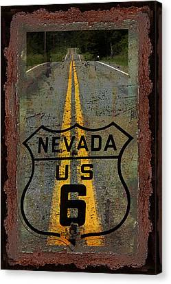 Lost Highway Canvas Print by John Stephens