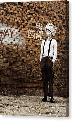 Lost In Back Alleys Of Yesterday Canvas Print