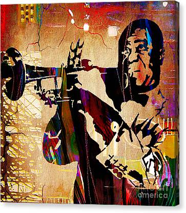 Jazz Canvas Print - Louis Armstrong Collection by Marvin Blaine