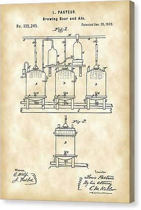 Louis Pasteur Beer Brewing Patent 1873 - Vintage Canvas Print