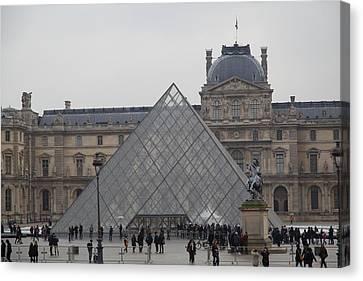 Louvre - Paris France - 011313 Canvas Print by DC Photographer