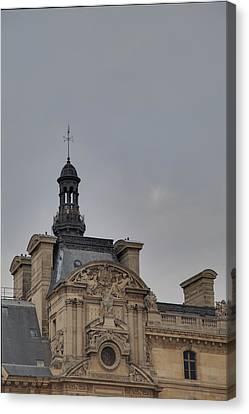 Louvre - Paris France - 01135 Canvas Print by DC Photographer