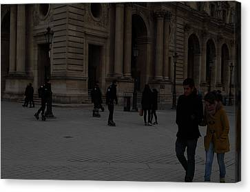 Horizontal Canvas Print - Louvre - Paris France - 01136 by DC Photographer