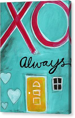 Graffiti Canvas Print - Love Always by Linda Woods