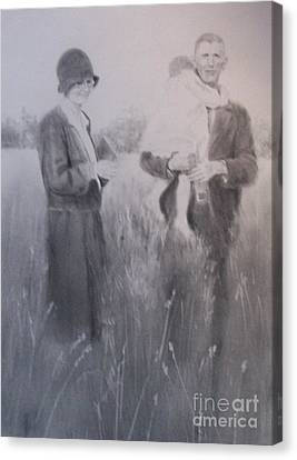Canvas Print featuring the drawing Love Forever by Mary Lynne Powers