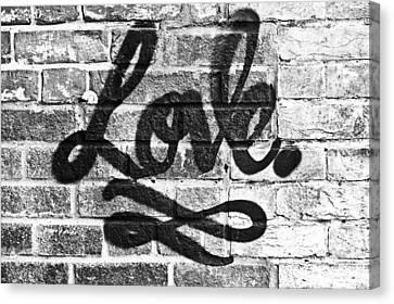 Love Graffiti Canvas Print by Tom Gowanlock