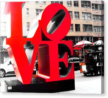 Love Canvas Print by J Anthony