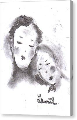 Canvas Print featuring the drawing Love by Laurie L