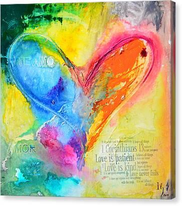 Love Never Fails Canvas Print by Ivan Guaderrama