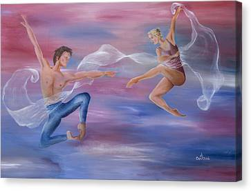 Ballet Dancers Canvas Print - Love Of My Life by Music of the Heart
