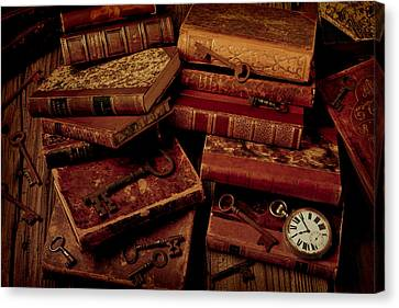 Library Canvas Print - Love Old Books by Garry Gay
