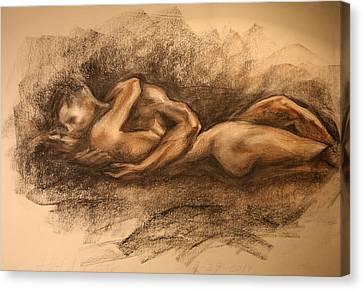 Lovers Canvas Print by Aelita Arts