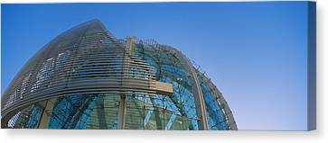 Low Angle View Of A City Hall, Downtown Canvas Print by Panoramic Images