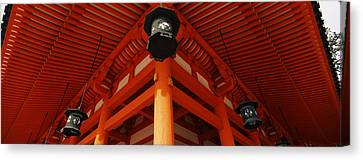 Low Angle View Of A Shrine, Heian Jingu Canvas Print by Panoramic Images