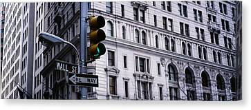 Low Angle View Of A Traffic Light Canvas Print by Panoramic Images