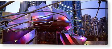 Low Angle View Of Jay Pritzker Canvas Print