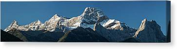 Low Angle View Of Mountains, Mount Canvas Print by Panoramic Images